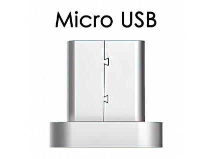 Červený magnetický kabel s mico USB koncovkou - John's Shop