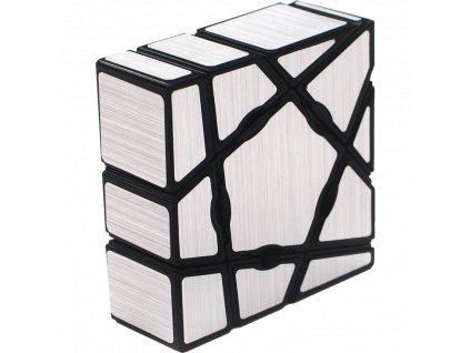 Rubikova kostka - Mirror Cube - Stříbrná - Plochá