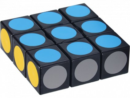johns shop rubikova kostka 1x3x3 plocha cerna teckovana 1