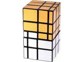 johns shop rubikova kostka zrcadlova 3x3x5 dvojita mirror cube zlata stribrna 1