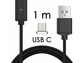 johns shop magneticky kabel m2 cerny 1m usb c