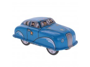 Vintage Police Car Model Wind up Clockwork Tin Toy Collectible Gift for Kids Children Adult (1)