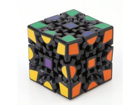 3D Cube Puzzle Magic Cube 3 x 3 x 3 Gears Rotate Puzzle Sticker Adults Child