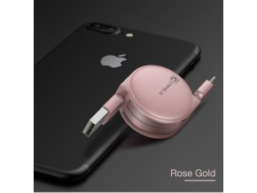Cafele Retractable Micro USB Cable 1 m Longitud M xima para Android Puerto Micro USB Del1