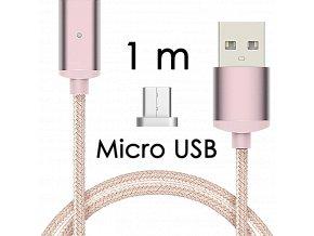 johns shop magneticky kabel m2 ruzovy 1m micro usb