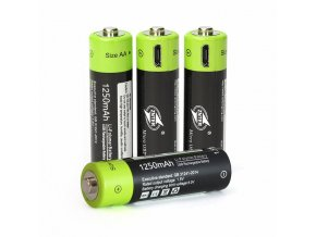 4PCS AA 1 5V 1250mAh USB Rechargeable Lithium Polymer Battery Quick Charging by Micro USB