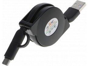 John's Shop USB kabel Samonavíjecí černý (5)