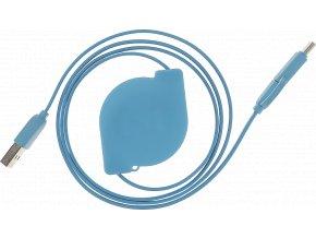 johns shop usb kabel samonavijeci micro usb usb c modry 1