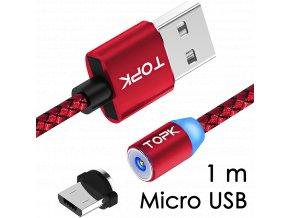 M5 - Magnetický USB kabel - Červený - Micro USB - 1 m