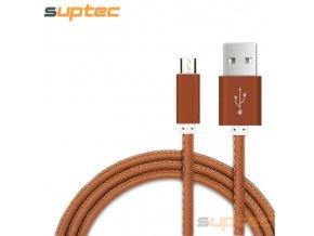 John's Shop USB kabel Kožený vzor (4)