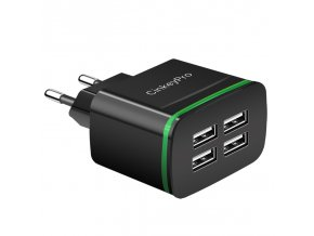 CinkeyPro 4 Ports USB Charger 5V 4A Smart Wall Adapter Mobile Phone Charging Data Device For (5)
