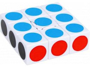 1x3x3 Rubikova kostka John's Shop bílá, tečky 1