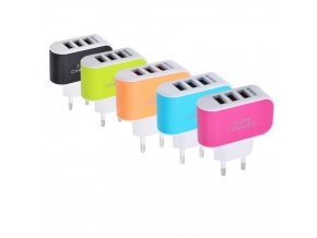 Candy Color 5V 3 1A 3USB Port Home Travel AC Wall Power Charger Adapter USB Charger