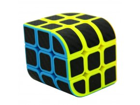 Lefang Trihedron Magic Cube Puzzle Toy with Carbon Fiber Sticker for Competition Challenge Colorful (4)