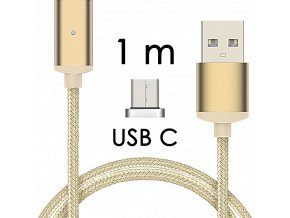 johns shop magneticky kabel m2 zlaty 1m usb c