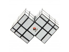 Mirror Double Conjoined 3x3x3 Magic Cube Bump Cube Fluorescent White Stickers Educational Toys For Kids Children