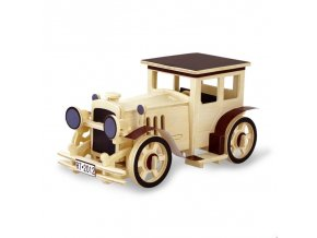 3D Wood Puzzle Children DIY Wooden Aircraft Assembly Model Vintage Car Handmade Toys for Children Gifts (2)