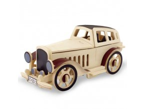 3D Wood Puzzle Children DIY Wooden Aircraft Assembly Model Vintage Car Handmade Toys for Children Gifts (1)