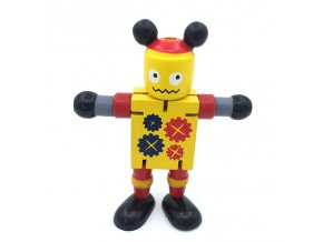 11cm Newest Creative Colorful Deformable Kids DIY Educational Toy Christmas Gift Move Body Cute Robot Action (2)