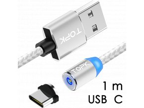 johns shop magneticky kabel m5 stribrny 1m usb c