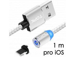 johns shop magneticky kabel m5 stribrny 1m pro ios