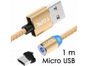 johns shop magneticky kabel m5 zlaty 1m micro usb