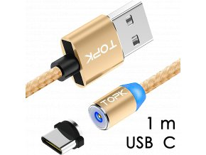 johns shop magneticky kabel m5 zlaty 1m usb c