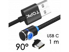 johns shop magneticky kabel m5 90 cerny 1m usb c