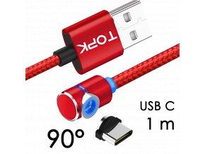 johns shop magneticky kabel m5 90 cerveny 1m usb c