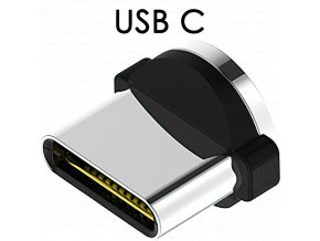 John's Shop Magnetický USB kabel TopK červený zahnutý USB C 1