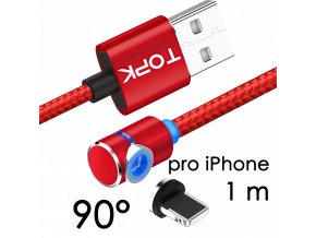 johns shop magneticky kabel m5 90 cerveny 1m pro iphone