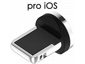 John's Shop Magnetický USB kabel TopK stříbrný zahnutý iOS 1