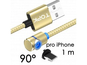 johns shop magneticky kabel m5 90 zlaty 1m pro iphone