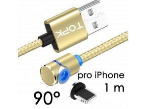 johns shop magneticky kabel m5 90 zlaty 1m pro iphone