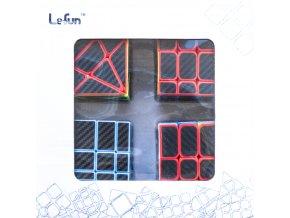 johns shop rubikova kostka sada 4 kusu carbon zrcadlova mirror cube 3x3x3 axis windtalkers fisher cube 0