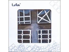 johns shop rubikova kostka sada 4 kusu carbon bily podklad zrcadlova mirror cube 3x3x3 axis windtalkers fisher cube 01