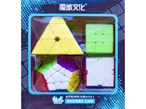 johns shop sada 4 rubikovych kostek dvanactisten meganimx skewb pyramida 3x3x3 pyraminx sq1 spicaty stred beznalepkova 1