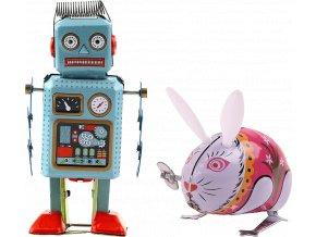 johns shop cz retro hracky sada 2 ks zajic robot 1 kopie