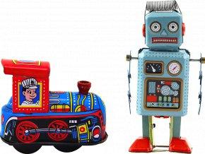 johns shop cz retro hracky sada 2 ks vlacek robot 1