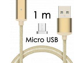 johns shop magneticky kabel m2 zlaty 1m micro usb