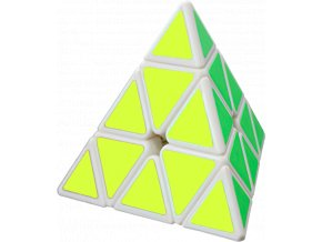 johns shop rubikova kostka pyramida 3x3x3 bila s nalepkami 1