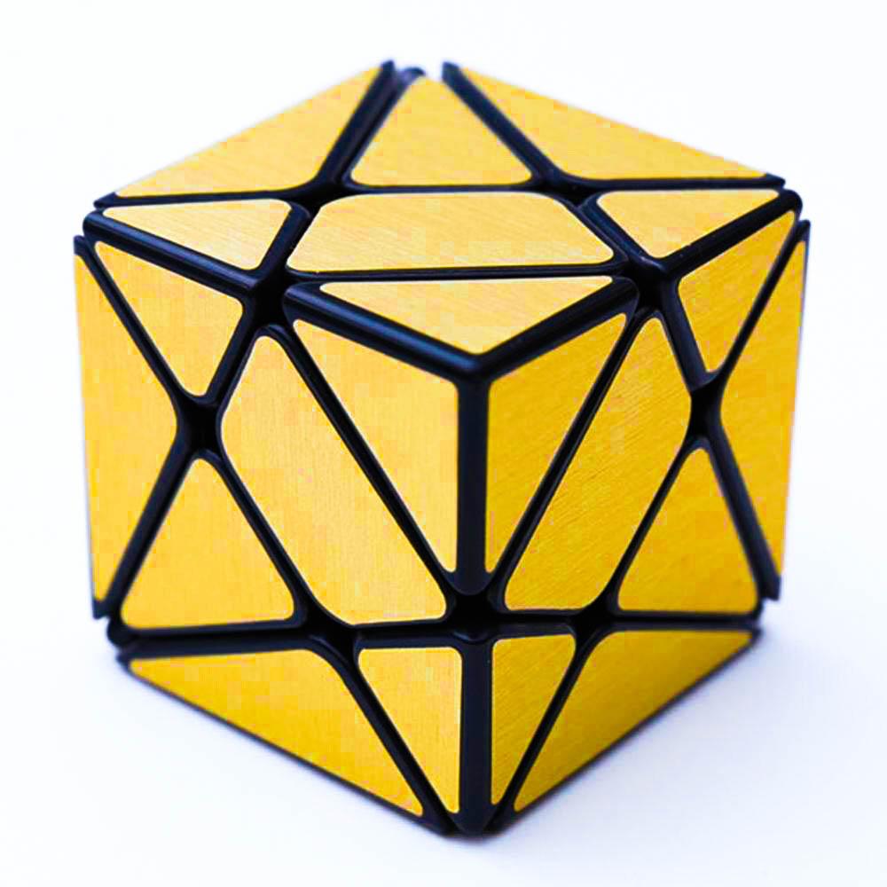 Rubikova kostka - Celobarevná - zlatá