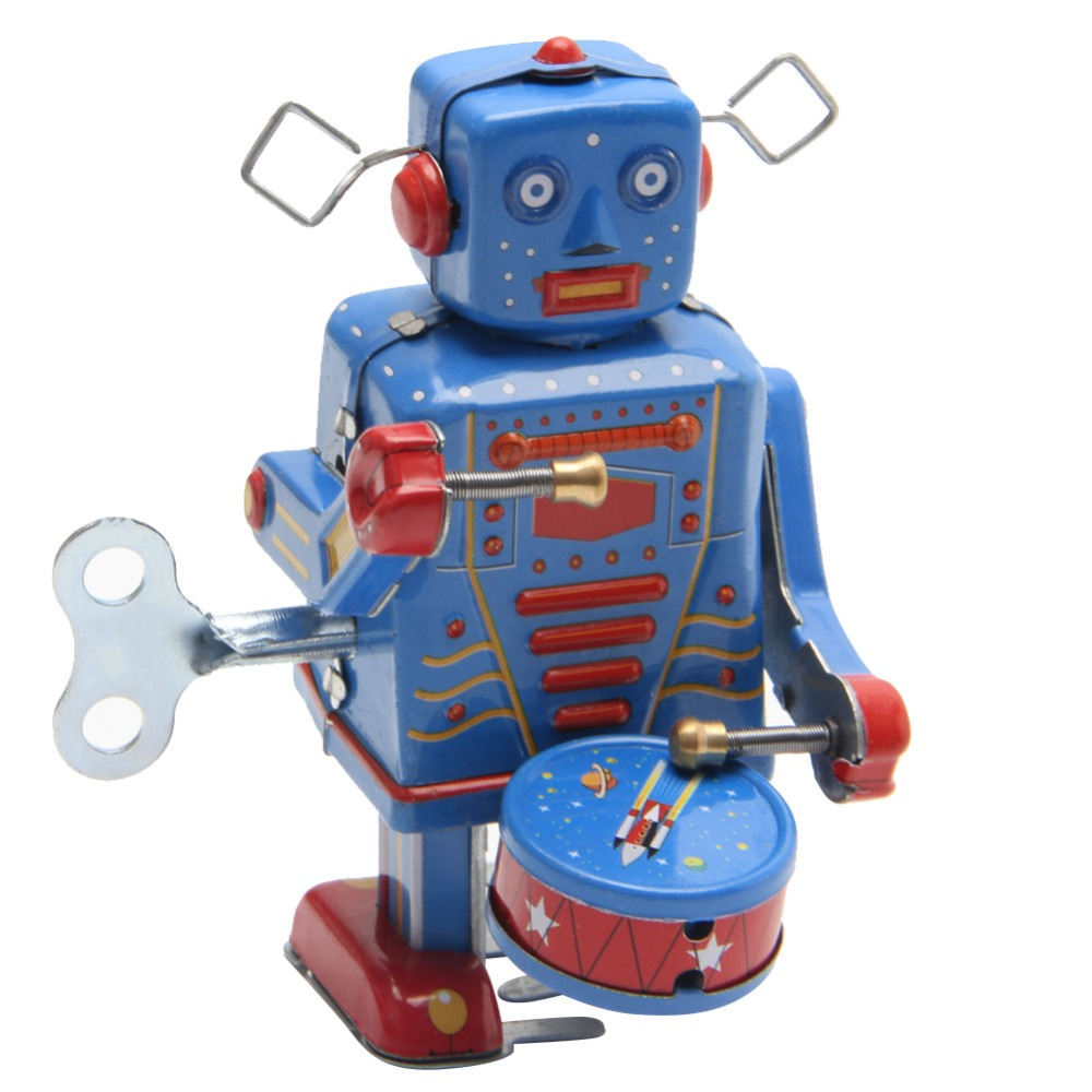 Retro hračka - Robot chodící a bubnující