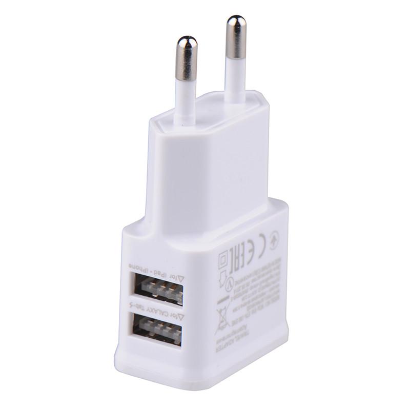 USB nabíječka - 2 porty - 5V, 2A - adaptér do zásuvky