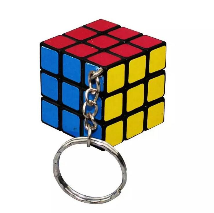 Přívěsek na klíče - Funkční miniaturní Rubikova kostka