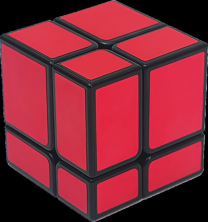 Zrcadlová rubikova kostka 2x2x2 - Růžová (Mirror Cube)