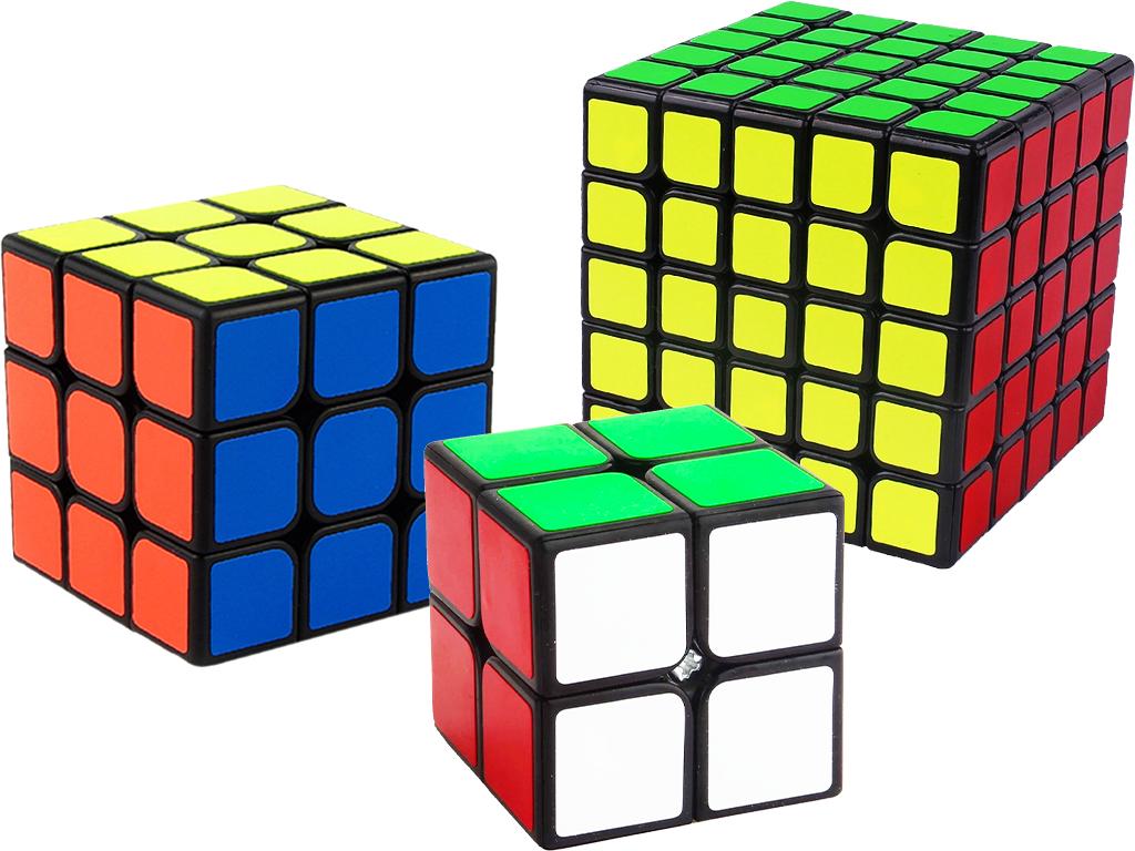 Sada 2 kusů - Rubikova kostka 2x2x2, 3x3x3 a 5x5x5