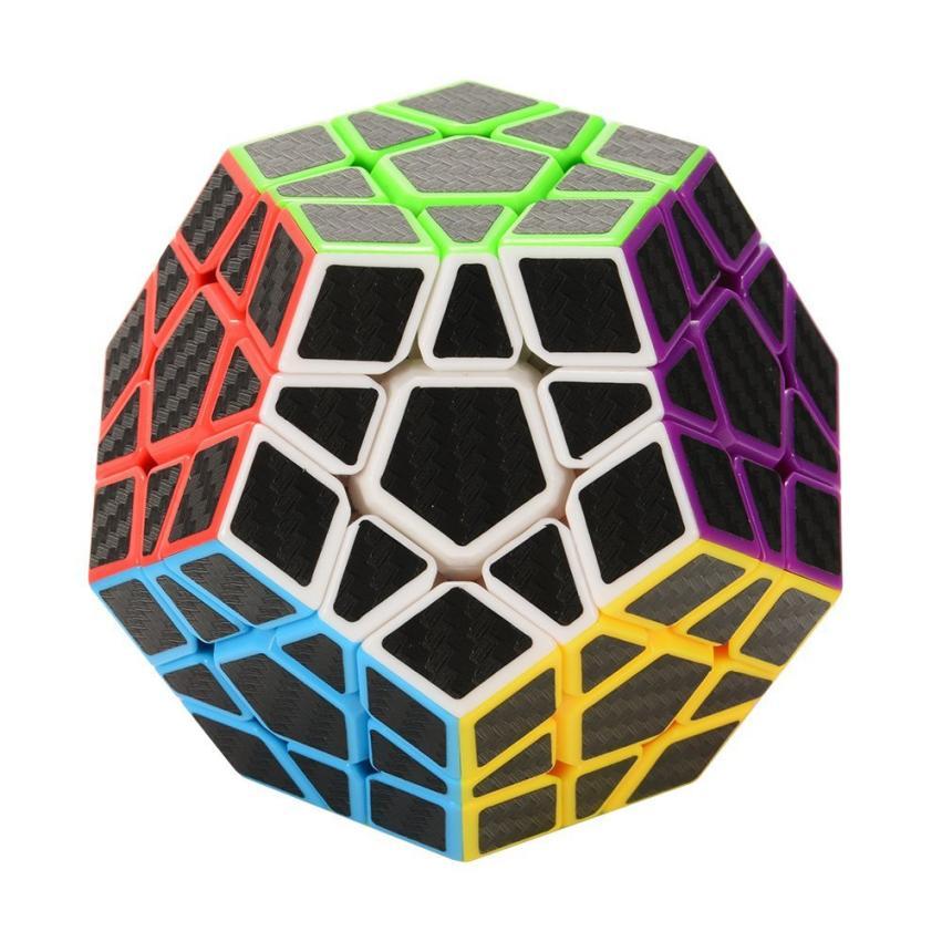 Fotografie 12 stěn - Rubikova kostka - Dvanáctistěn - Černé nálepky