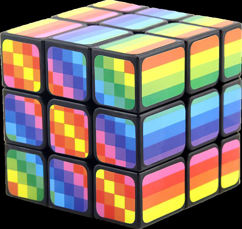 Rubikova kostka - 3x3x3 - Duhová
