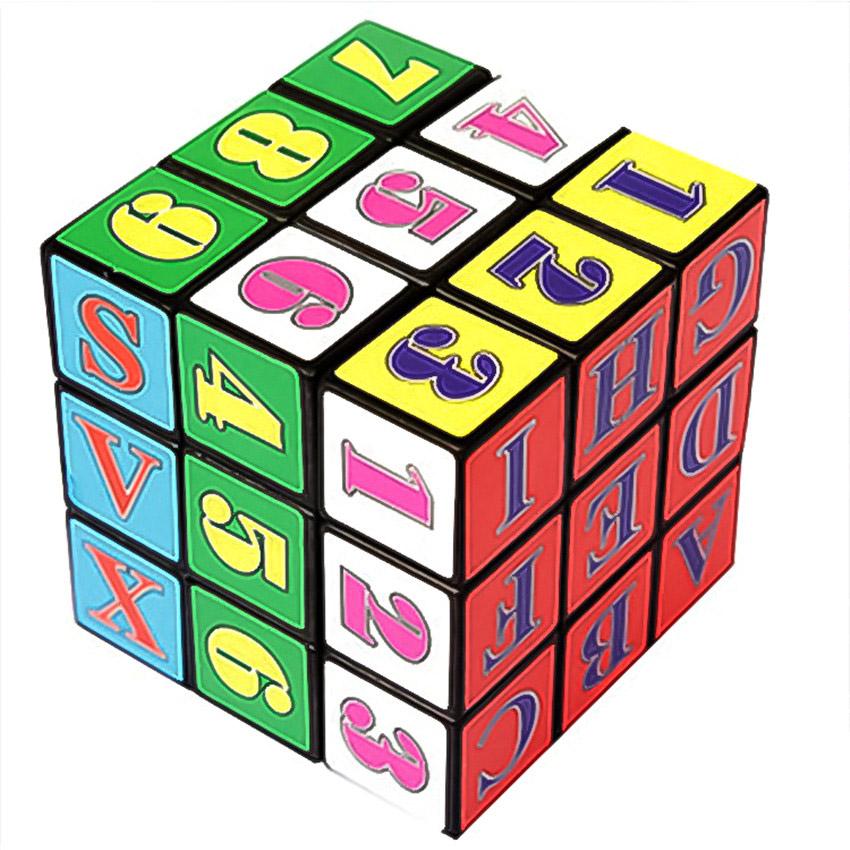 3x3x3 - Rubikova kostka s písmeny a číslicemi